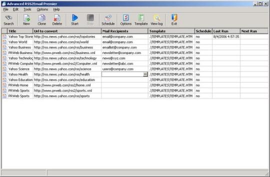 Advanced RSS2Email Premier