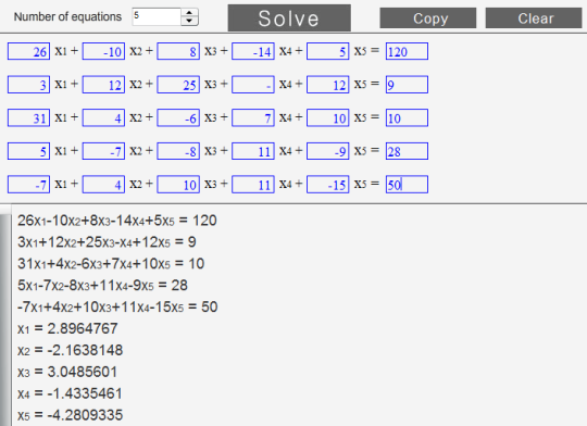 Advanced  System of Equations Solver