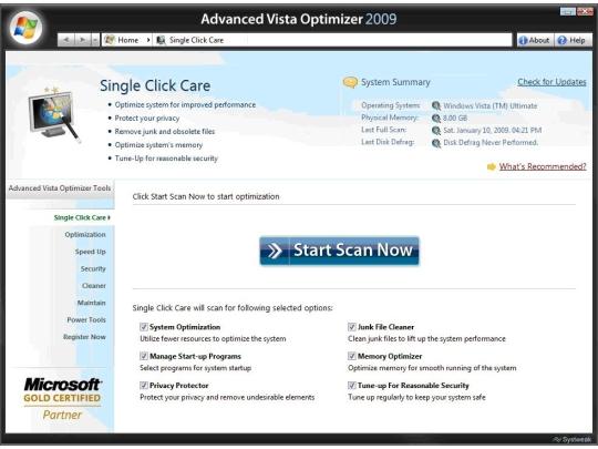 Advanced Vista Optimizer 2009