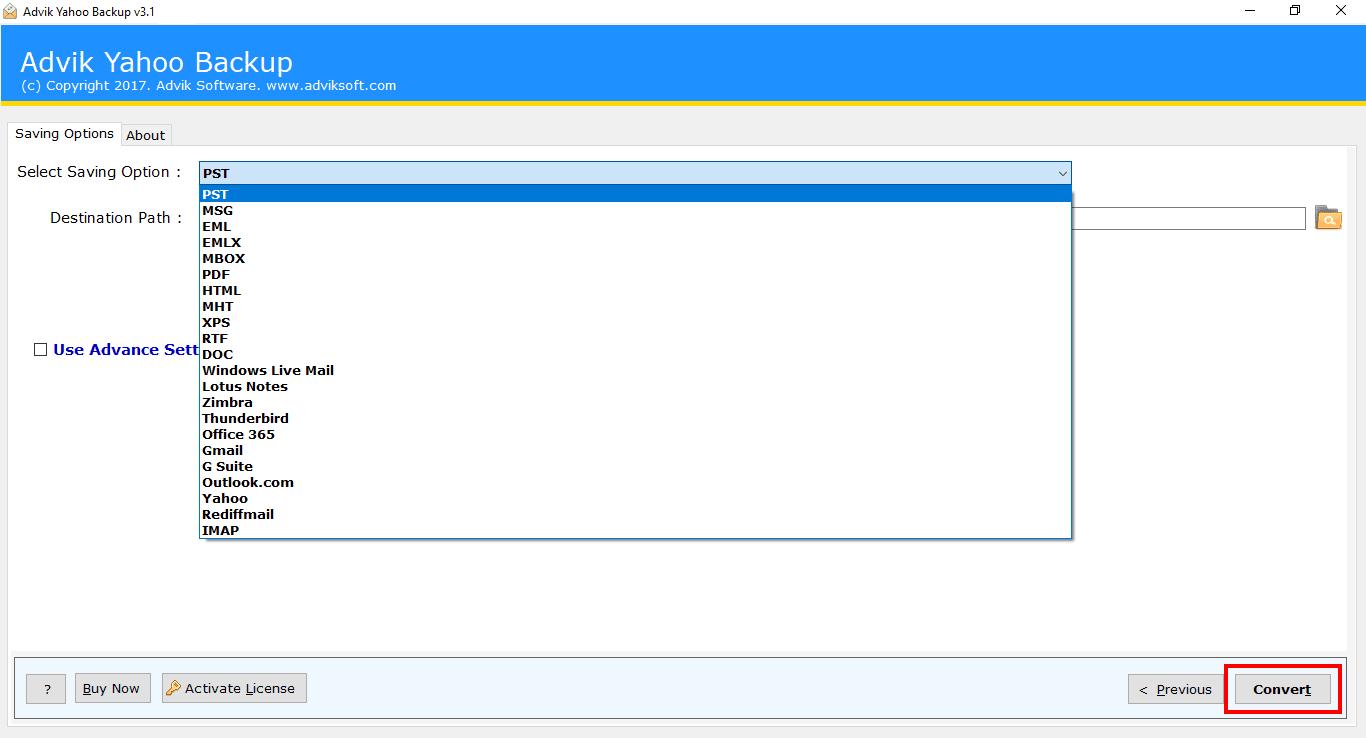 Advik Yahoo Backup Software