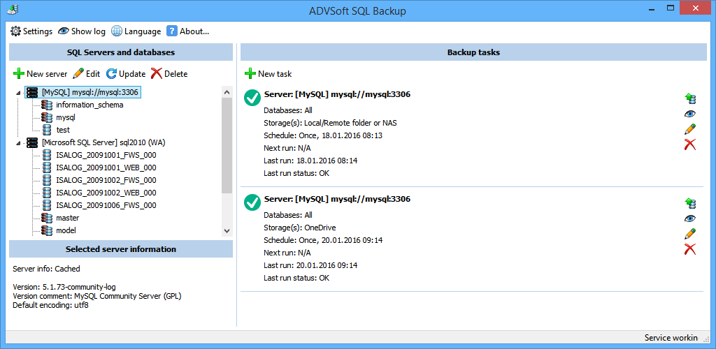 ADVSoft SQL Backup