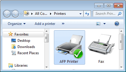 AFP Printer Driver for Windows