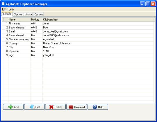AgataSoft Clipboard Manager