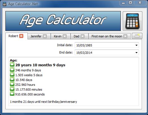 Age Calculator .Net