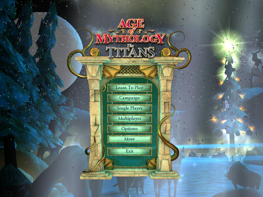 Age of Mythology the Titans Custom Christmas menus by The Vandhaal