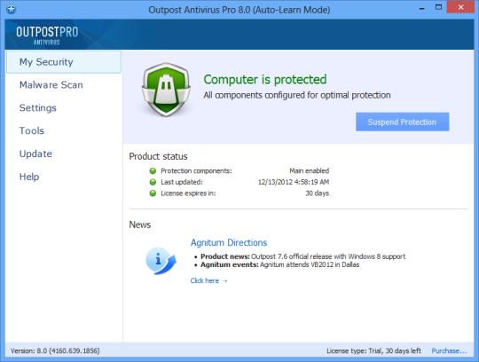 Agnitum Outpost Antivirus Pro (64-bit)