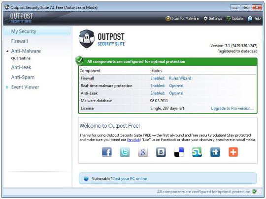 Agnitum Outpost Security Suite Free (64-bit)