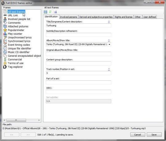 AHD ID3 Tag Editor Portable