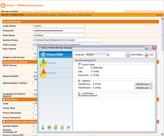 Ahsay Backup Software Suite