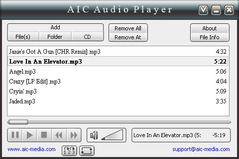 AIC Audio Player