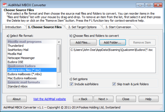 Aid4Mail MBOX Converter
