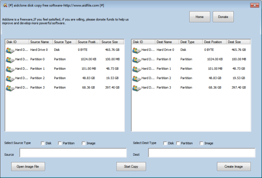 Aidclone disk copy software