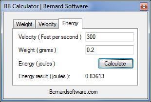 Airsoft BB Calculator