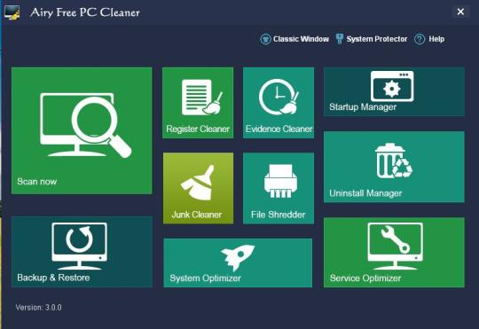 Airy Free PC Cleaner