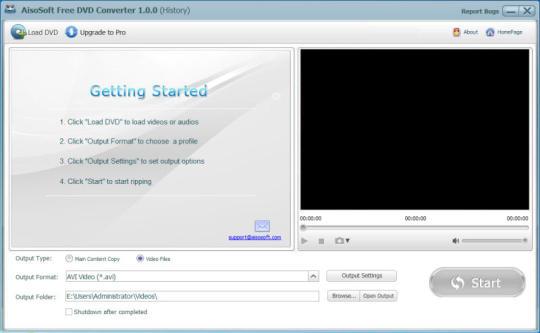 AisoSoft Free DVD Converter