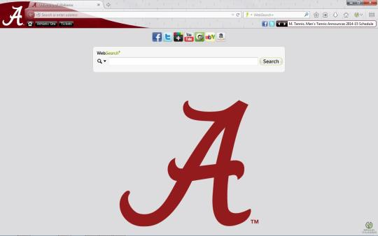 Alabama Crimson Tide Theme for Firefox