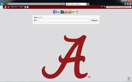 Alabama Crimson Tide Theme for Internet Explorer