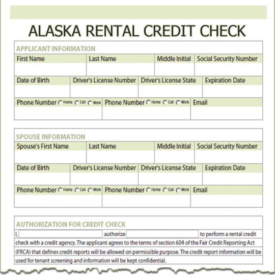 Alaska Rental Credit Check