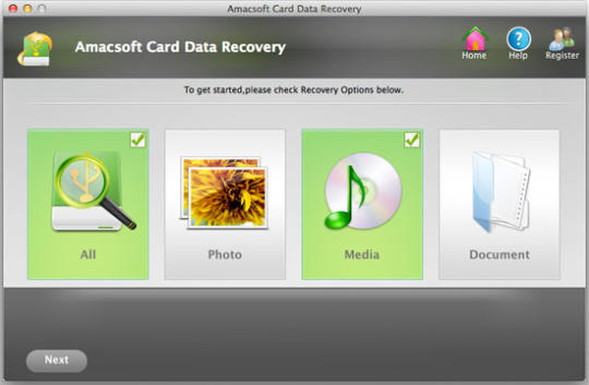 Amacsoft Card Data Recovery for Mac
