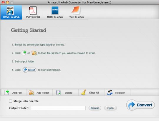 Amacsoft ePub Converter