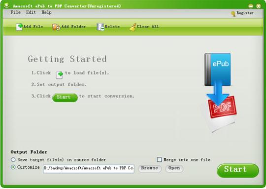 Amacsoft ePub to PDF Converter