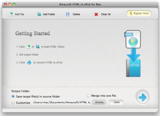 Amacsoft HTML to ePub