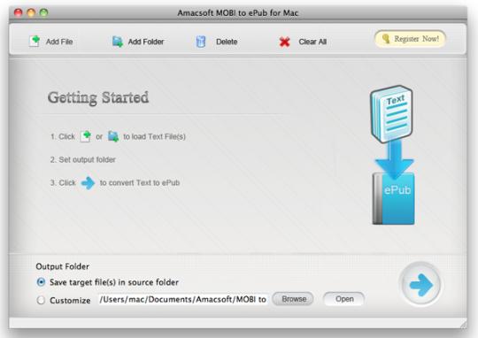 Amacsoft MOBI to ePub