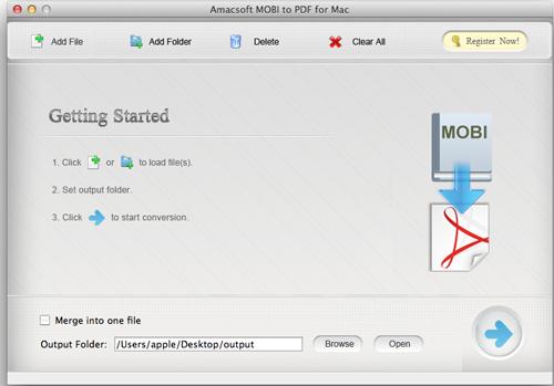 Amacsoft MOBI to PDF for Mac