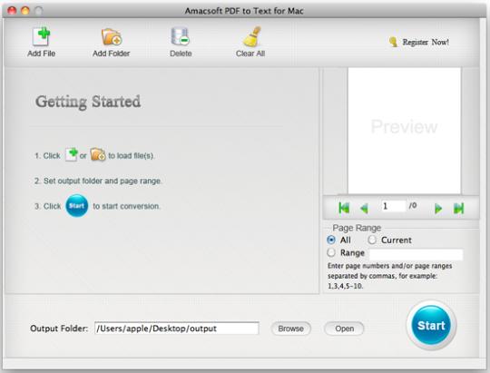 Amacsoft PDF to Text for Mac