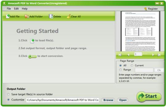 Amacsoft PDF to Word Converter