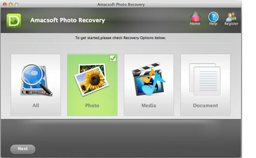 Amacsoft Photo Recovery for Mac