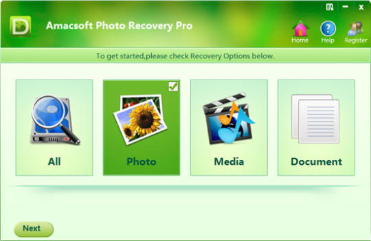Amacsoft Photo Recovery Pro