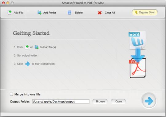 Amacsoft Word to PDF for Mac