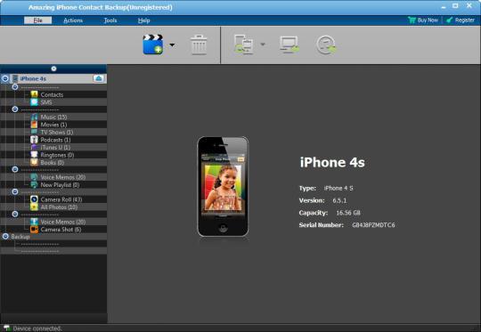 Amazing iPhone Contact Backup
