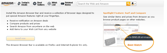 Amazon Browser Bar for Firefox