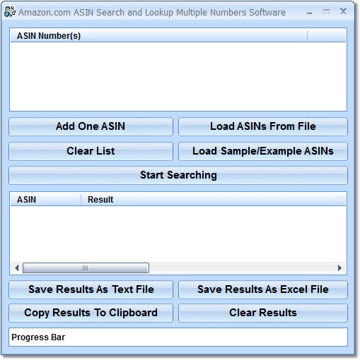 Amazon.com ASIN Search and Lookup Multiple Numbers Software