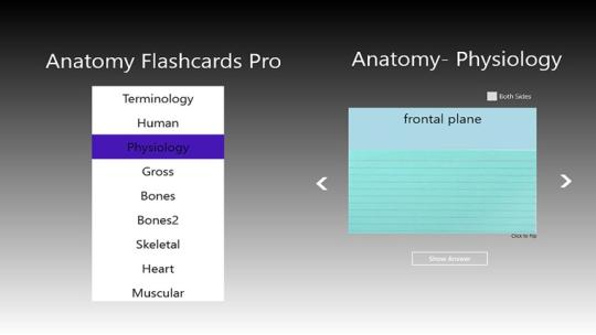 Anatomy Flashcards Pro for Windows 8