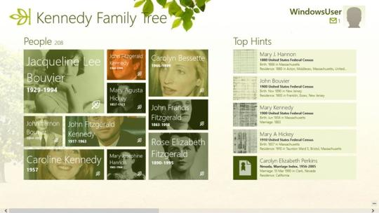 Ancestry for Windows 8
