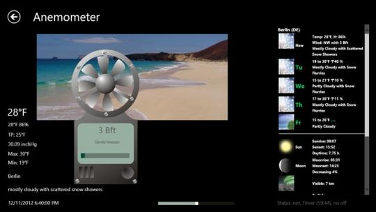 Anemometer for Windows 8