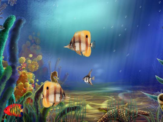 Animated Aquarium Screensaver