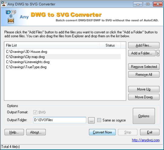 Any DWG to SVG Converter