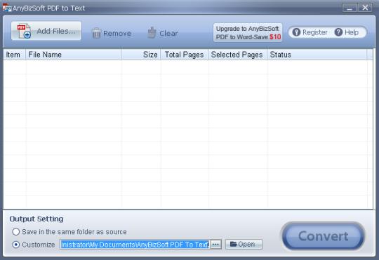 AnyBizSoft PDF to Text Converter
