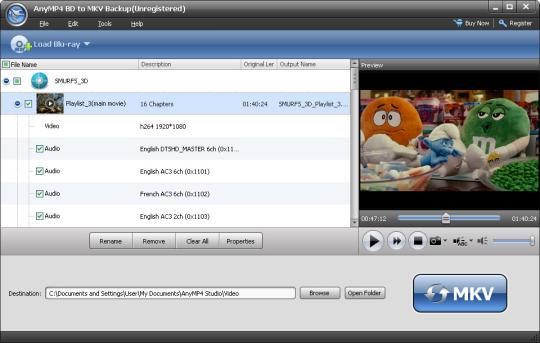 AnyMP4 BD to MKV Backup