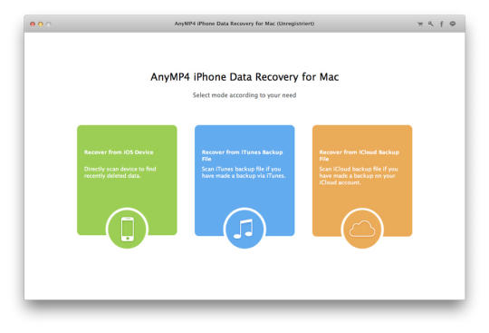 AnyMP4 iPhone Data Recovery for Mac
