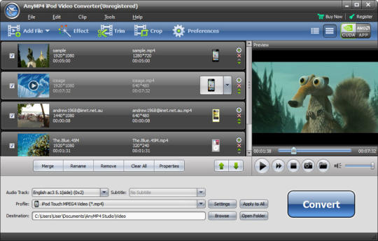AnyMP4 iPod Video Converter