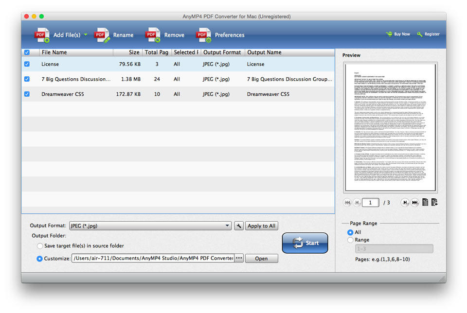 AnyMP4 PDF Converter for Mac