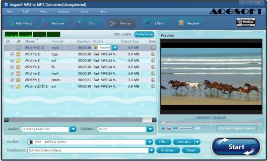 Aogsoft MP4 to MP3 Converter