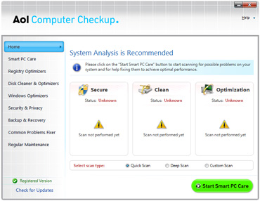 AOL Computer Checkup