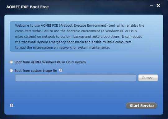 AOMEI PXE Boot Free