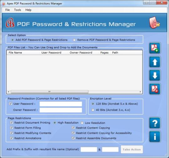 Apex PDF Password & Restrictions Manager